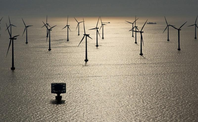 日本 海洋风力发电实证实验大型风车 风车 海上风电 风力发电 风电