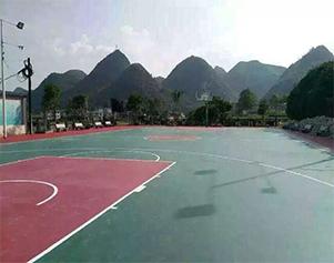 贵州黔南苗族布依族自治州罗甸边阳油海村村委会硅PU篮球场