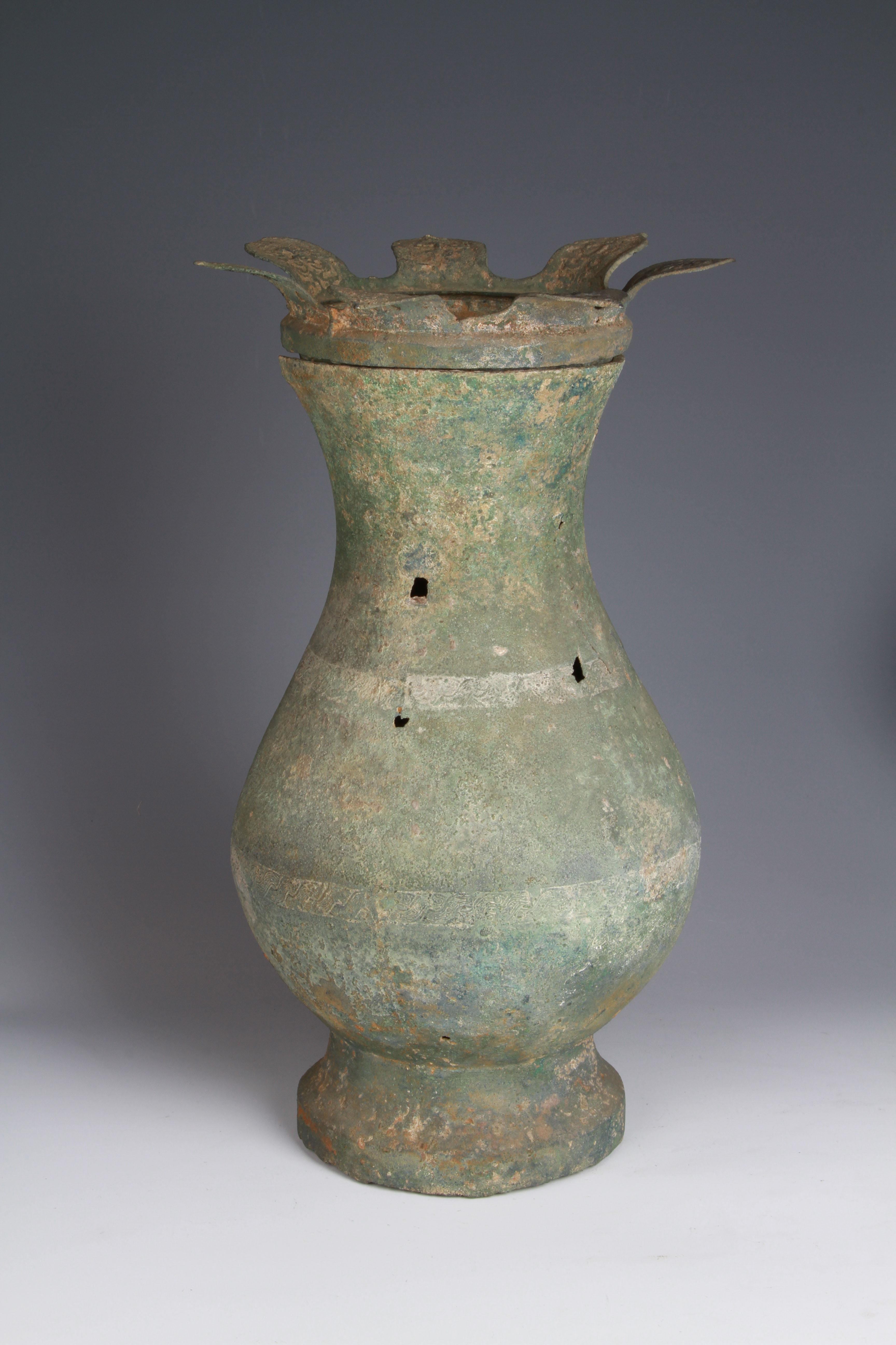 綯索纹莲盖铜壶