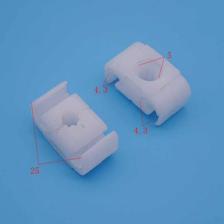 汽车塑料卡扣配件厂尼龙通用管束固定夹 圆形 线束固定