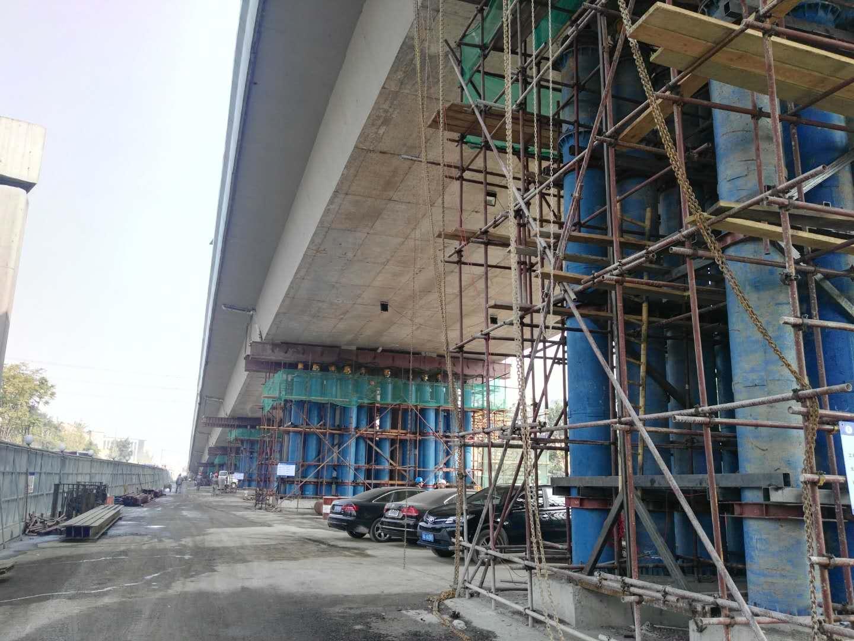 崇贤至东湖高架一期工程第一合同段桥梁顶升