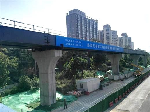 建工路高架橋上部鋼箱梁頂推工程