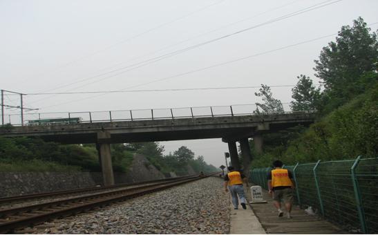 京九鐵路公跨鐵橋梁頂升工程【2009-08-27】