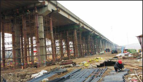 武汉三环野芷高架桥第二段(野芷立交—李纸立交)桥墩偏位维修加固工程