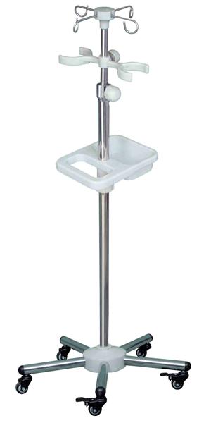F06不锈钢圆管白盘多功能输液架