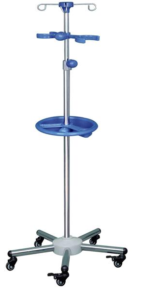 F07不锈钢圆管蓝托盘输液架