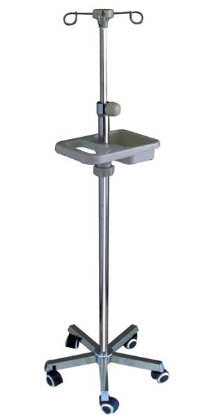 F09不锈钢方管白盘多功能输液架