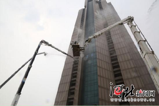 河北举办超高层建筑消防作战演练