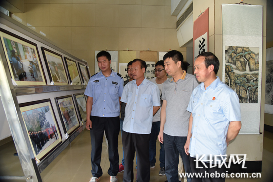 庆祝建党95周年高邑县举办政法系统书画摄影作品展