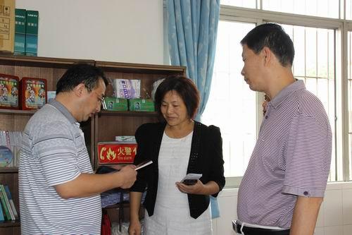 安全二字  时刻牢记―我校接受广东省首批安全教育基地学校检查