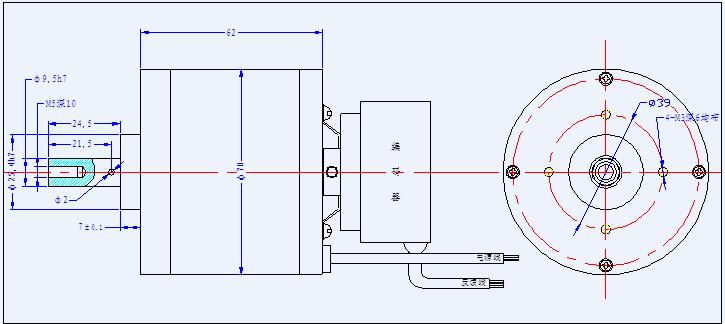 型号     无刷直流力矩电动机 增量式光电编码器参数 峰值堵转