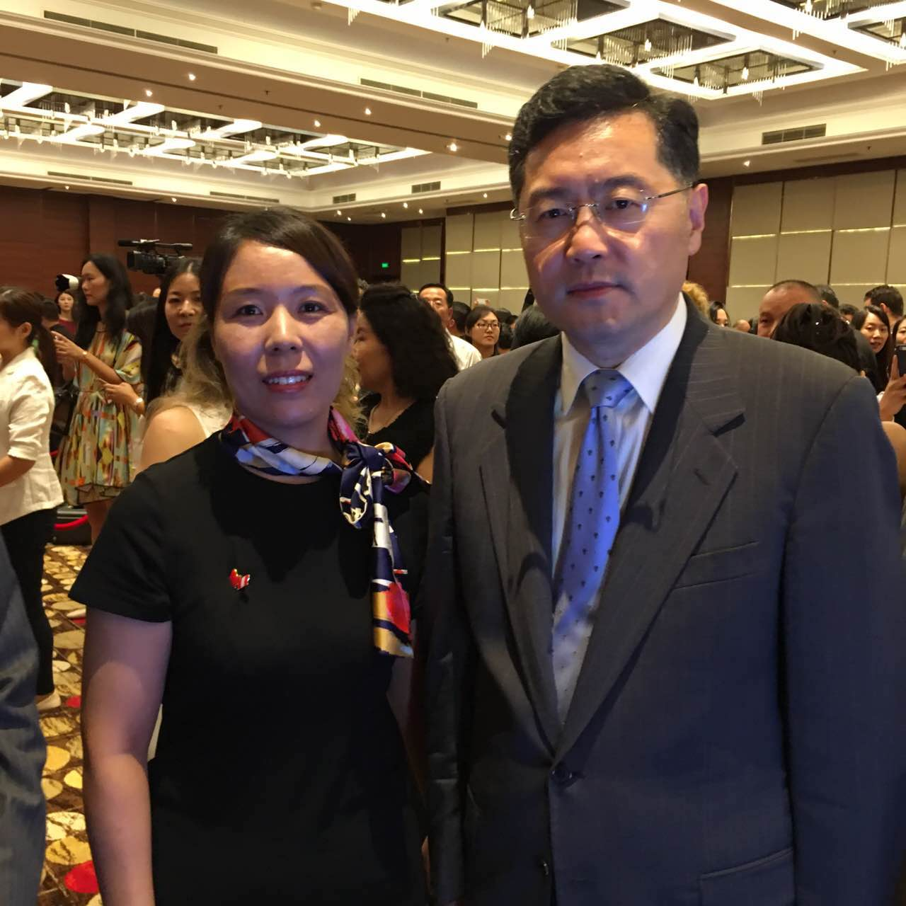 Assistant Minister of Foreign Affairs Qin Gang and Secretary General Cui Jianghong