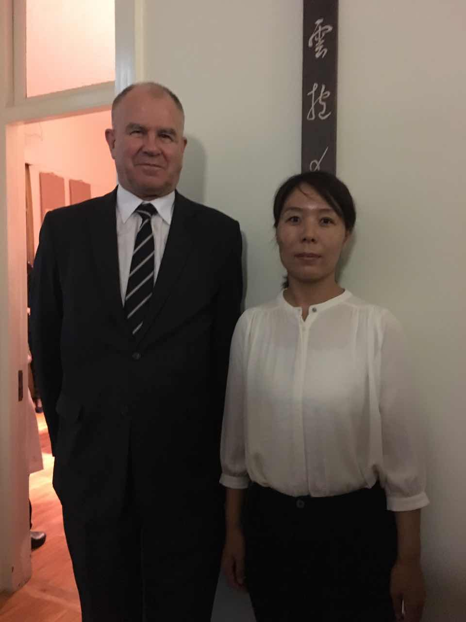 Zelanian Ambassador H.E. Mr. John Mckinnon and Secretary General Cui Jianghong