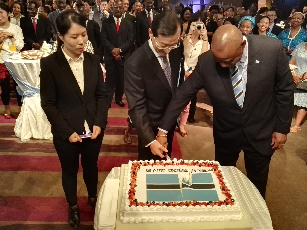 Lucy Cui Attended the National Reception of Botswana
