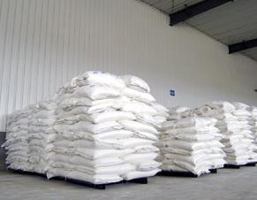 纤维素厂-淄博贝蕾化工公司仓库宽敞,纤维素存放整齐