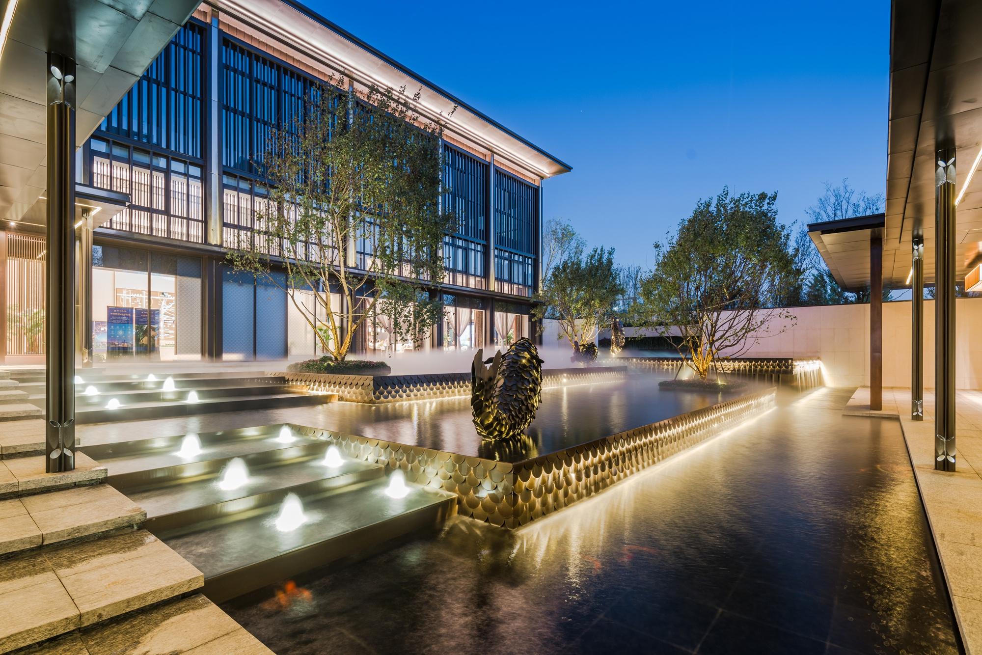 中国河南省之龙湖南龙湖7号地项目体验区景观工程