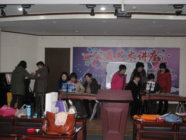 2015年3月13日铜陵市文化馆继续举办古筝公益性免费培训班