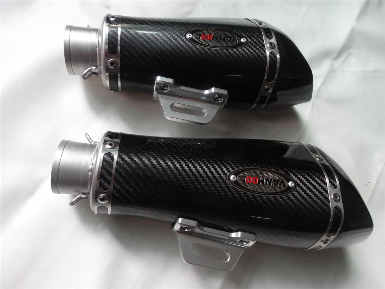 天蝎蝎子款真碳纤改装消声器排气管
