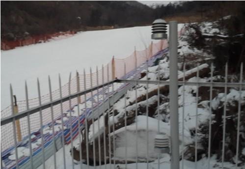 户外型智慧园丁传感器在河南方城七分山景区滑雪场安装
