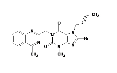 8-Bromo-7-but-2-yn-1-yl-3-methyl-1-[(4-methylquinazolin-2-yl)methyl]-3,7-dihydro-1H-purine-2,6-dione
