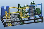 Sumatra - TELUK LEMBU  50MW gas power plant cooling water pipe module complete