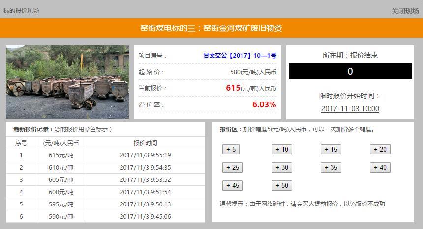 窑街煤电集团有限公司废旧物资及部分报废机器设备资产项目成功转让
