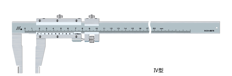 矩形管尺身圆弧爪游标卡尺 0 - 3000mm