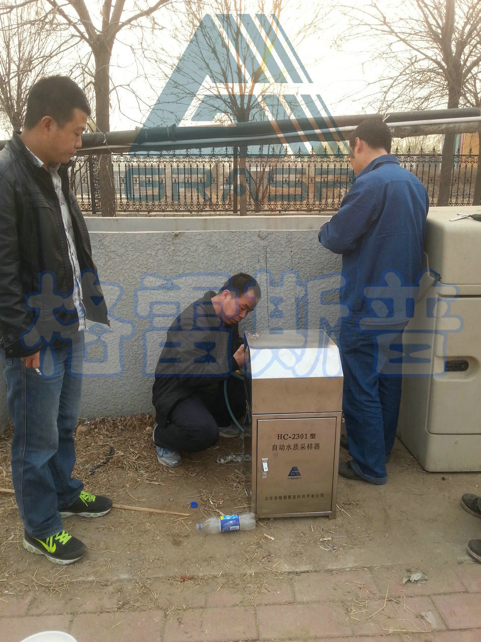 HC-2301固定水质采样器安装现场