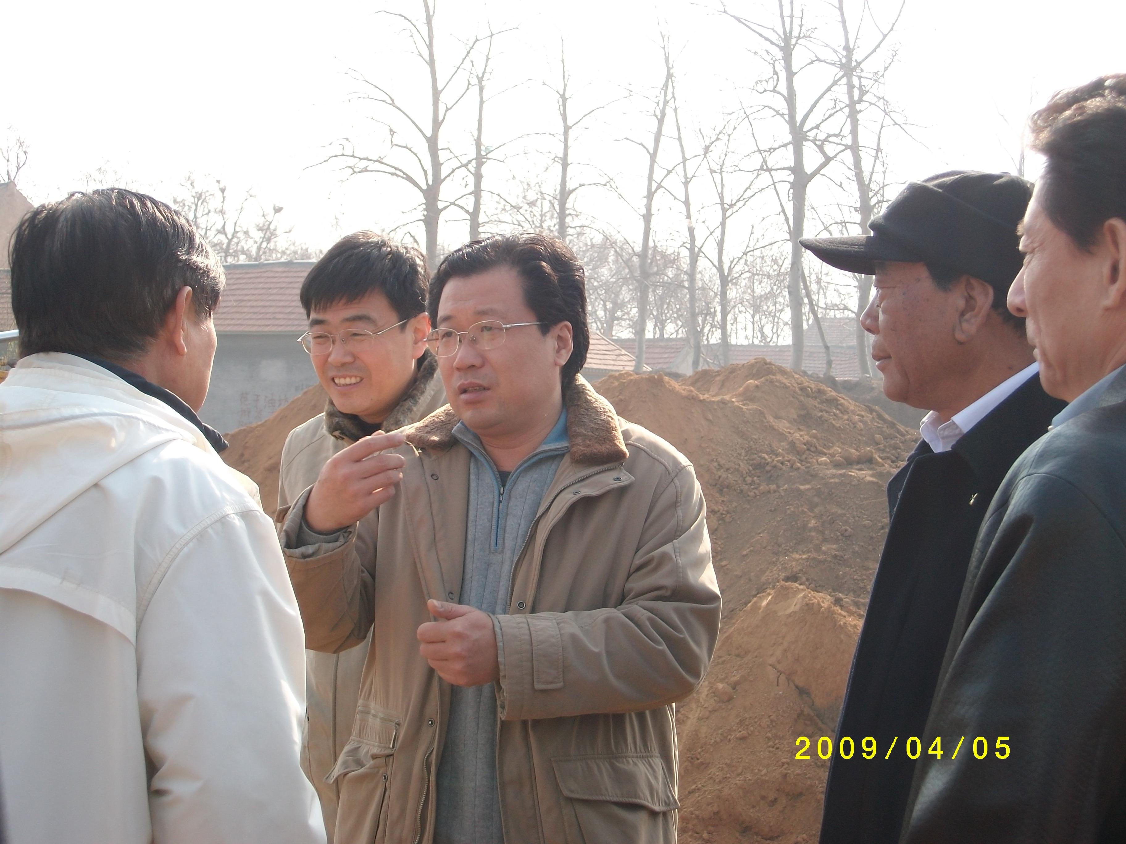 山东环保厅有关处领导视察三元朱村OWT工程