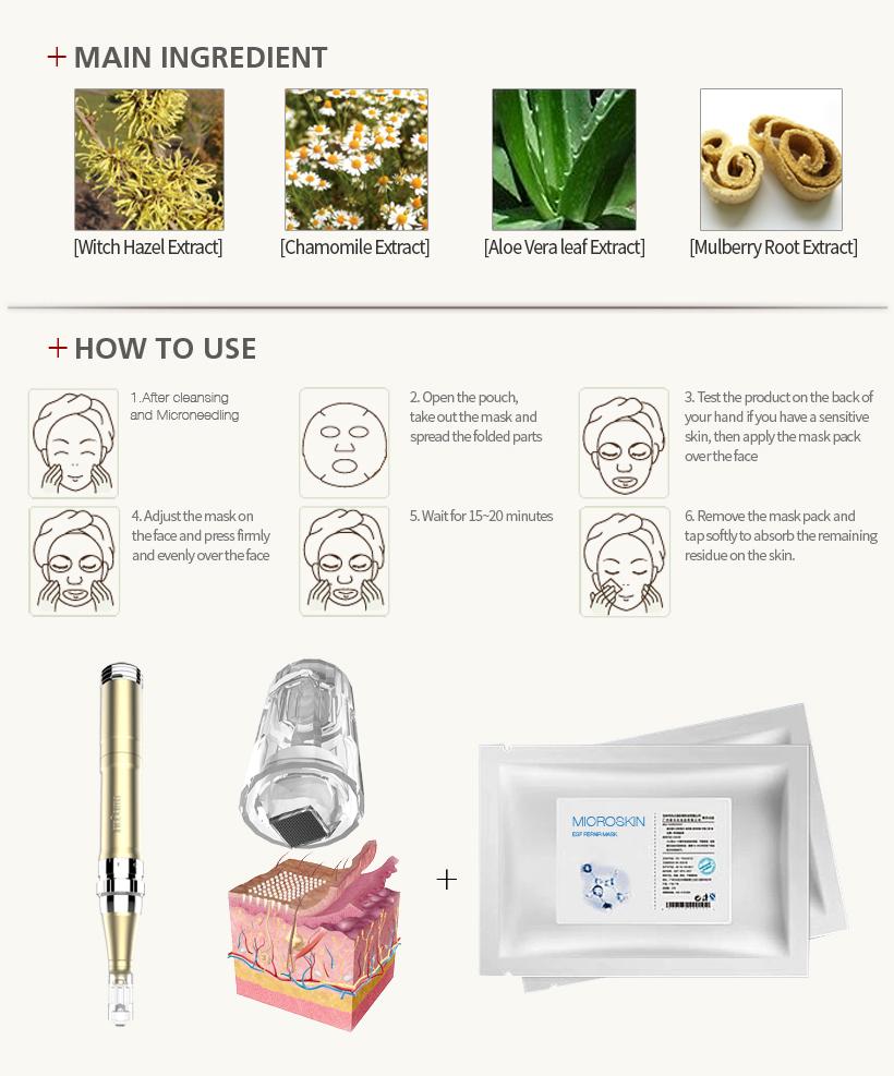 MTS Bio-Cellulose EGF Repair Mask-MicroSkin Beauty