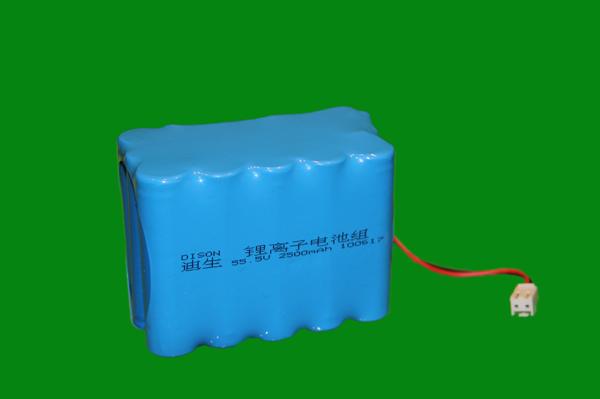 55.5v 2500mAh lithium ion battery pack
