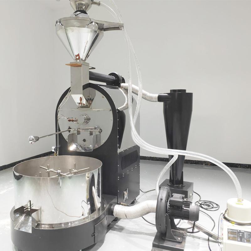 30KG全自动咖啡烘焙机炒豆机大型工厂商用咖啡豆烘焙机PLC触摸屏控制