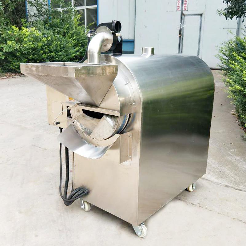不锈钢燃气炒货机100型滚筒式恒温炒货机五谷杂粮炒货机