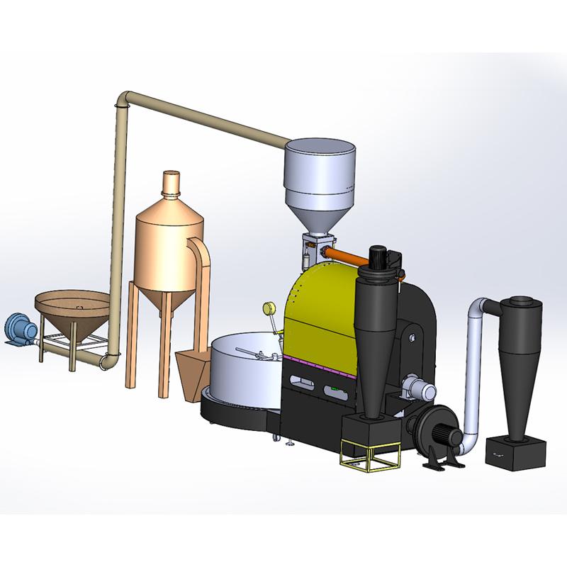 大型商用咖啡烘焙机200KG全自动化炒豆机PLC控制