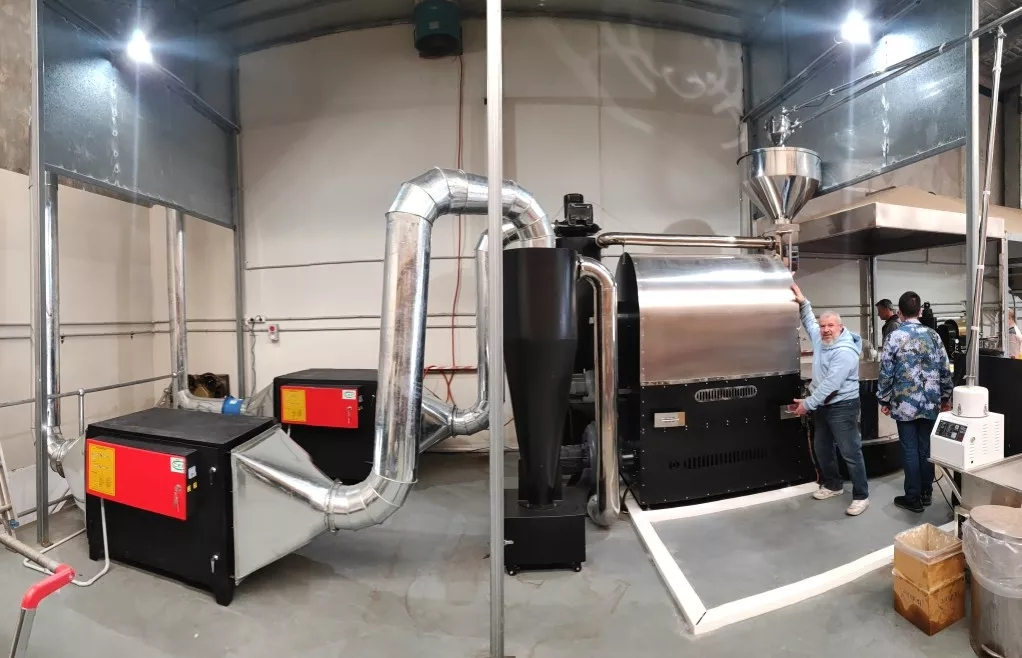 大型工厂专用全自动咖啡烘焙机300KG商用咖啡豆烘焙机器