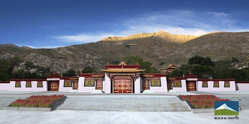 拉萨色拉寺大门设计效果图