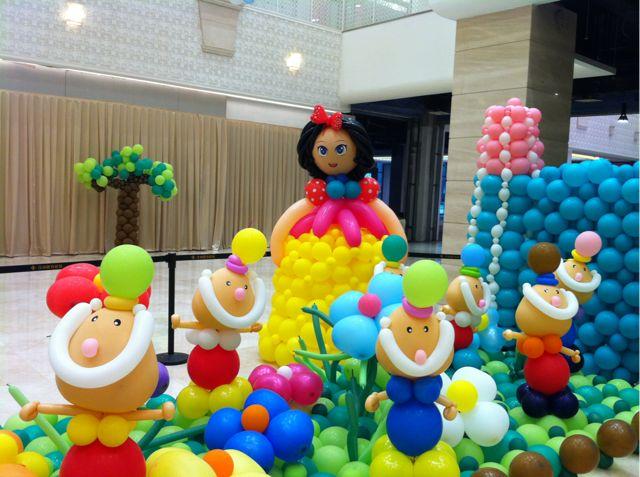 汉神购物广场气球布置