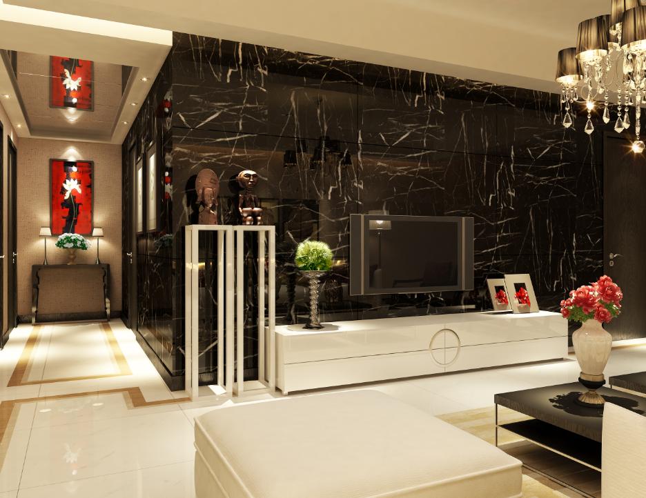 120 長方形房子客廳餐廳裝修圖片