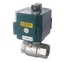 DN15-50开关量精小型快速型不锈钢电动二/三通球阀(DC3-6V,A/DC9-24V,AC220V)