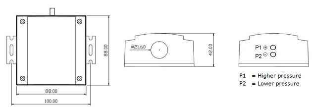 msda-p系列微压差变送器接线图示
