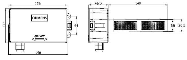 风管面板接线图