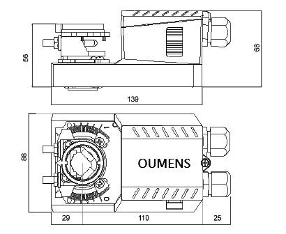 m10/20nm开关量/模拟量风阀驱动器(直流无刷)
