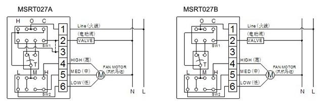 msrt027机械式风机盘管温控器