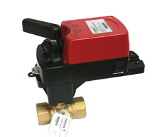 DN15-50二/三通开关量/模拟量黄铜电动调节球阀(V型整流蝶)