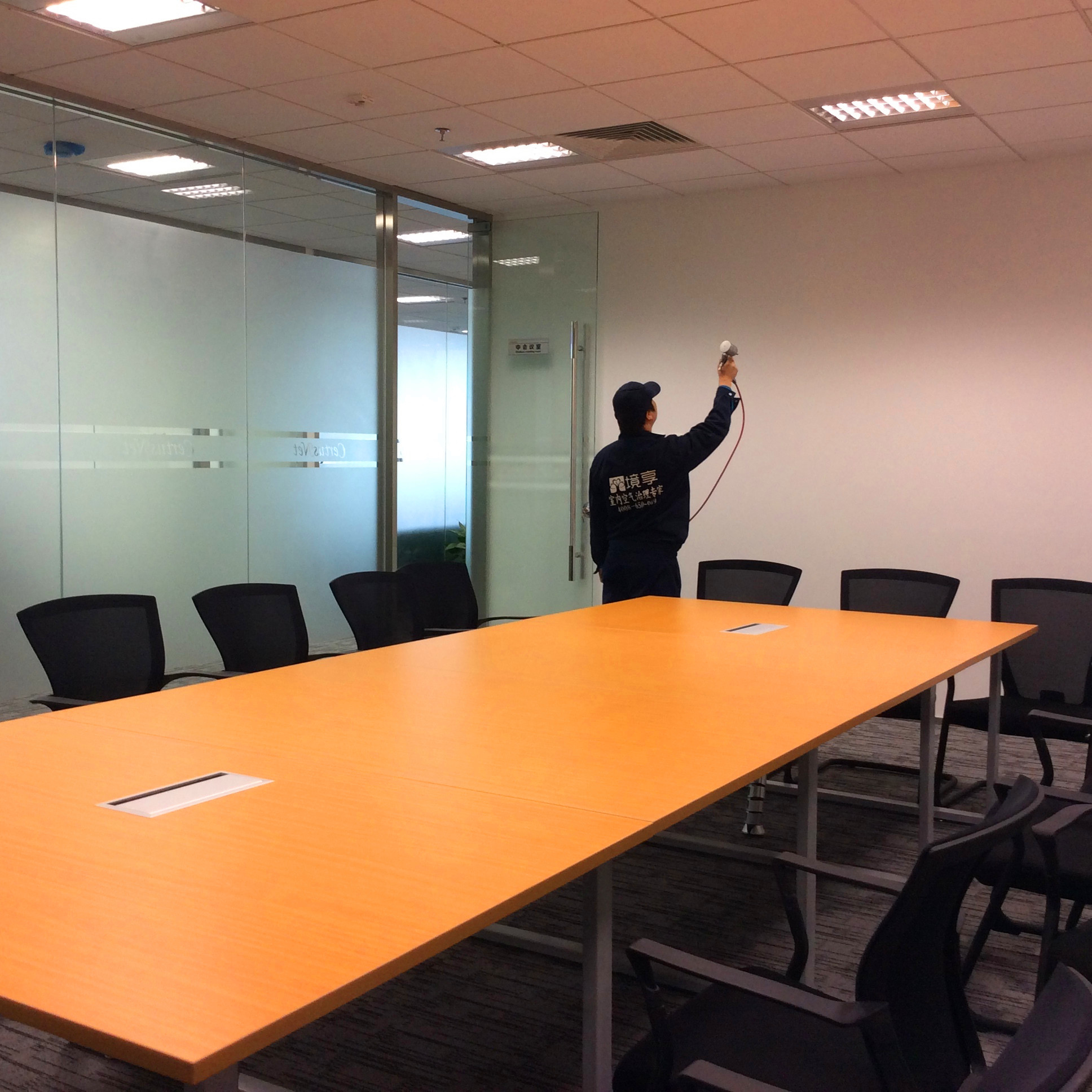 北京除甲醛公司望京项目办公室除甲醛案例