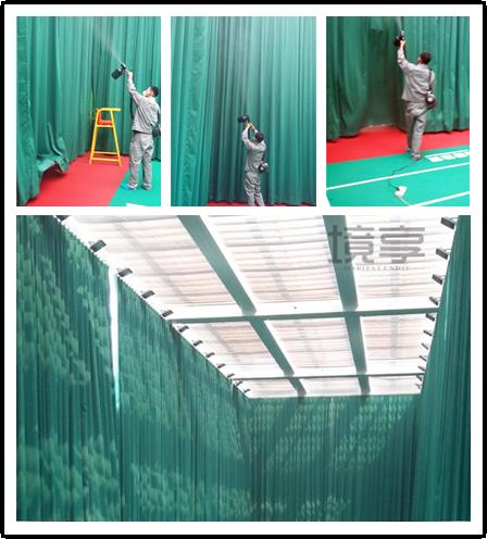 北京海淀某大厦室内羽毛球馆空气治理服务
