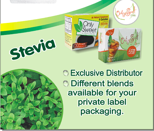 "Exclusive Agency of ""Only Sweet"" stevia blend"