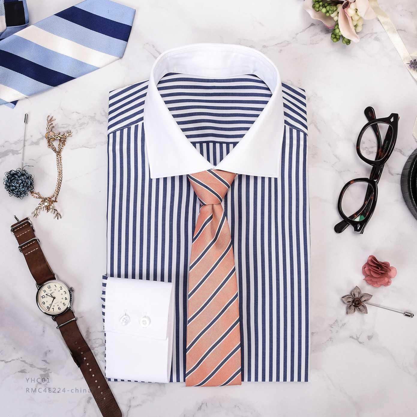 兰白条衬衫
