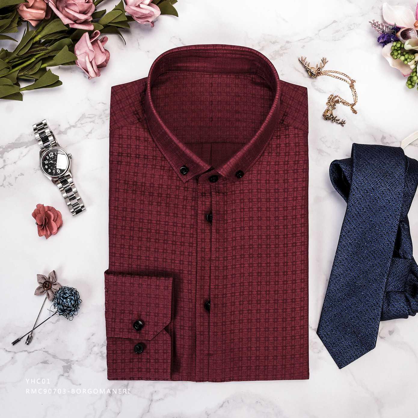 枣红时尚衬衫