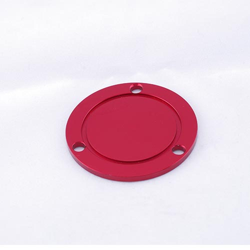 Alu. machining parts, Red anodized